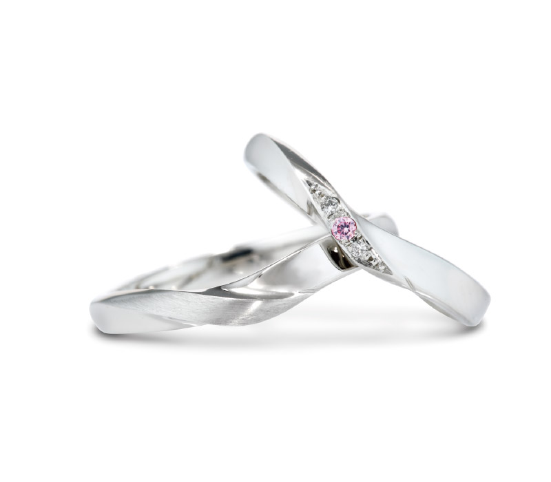 ミルク&ストロベリーの結婚指輪デザイン1