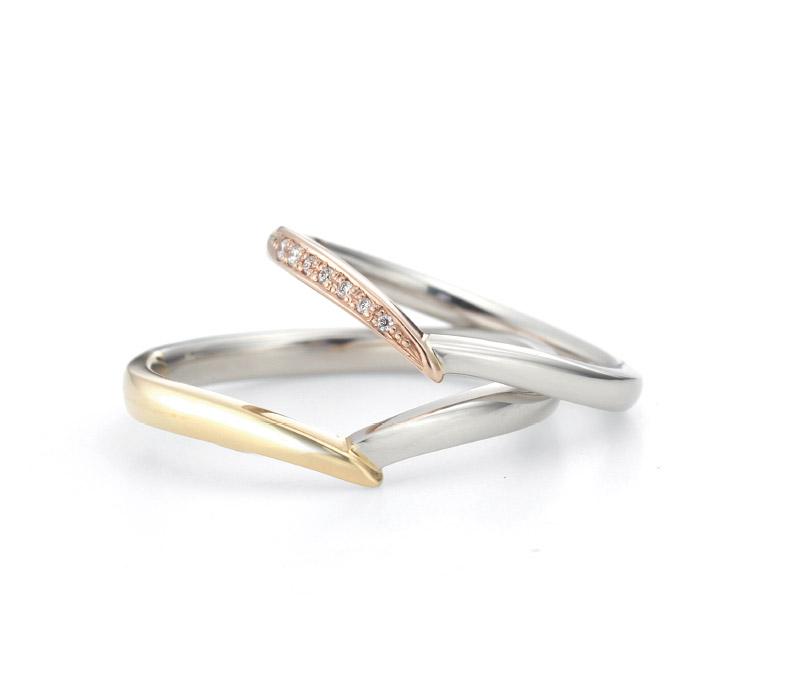 ミルク&ストロベリーの結婚指輪デザイン2