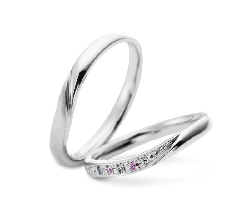 ミルク&ストロベリーの結婚指輪デザイン6