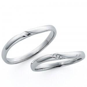 日本ダイヤモンド貿易の結婚指輪デザイン1